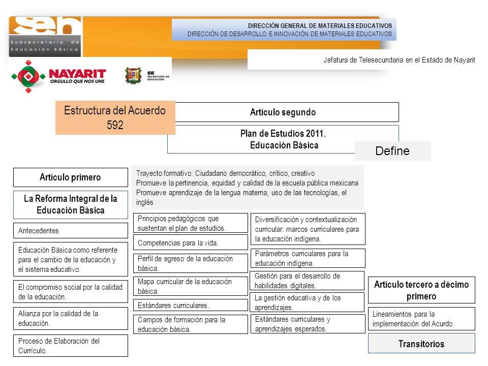 17 La Reforma Integral de la Educación Básica Plan de Estudios 2011. Educación Básica Transitorios Artículo tercero a décimo primero Artículo segundo