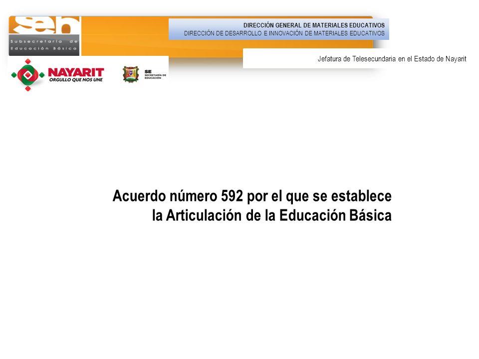Acuerdo número 592 por el que se establece la Articulación de la Educación Básica DIRECCIÓN GENERAL DE MATERIALES EDUCATIVOS DIRECCIÓN DE DESARROLLO E