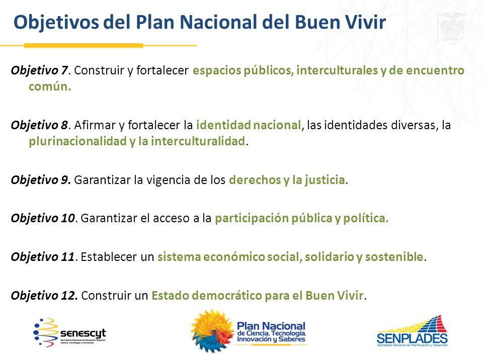 Objetivo 7.Construir y fortalecer espacios públicos, interculturales y de encuentro común.