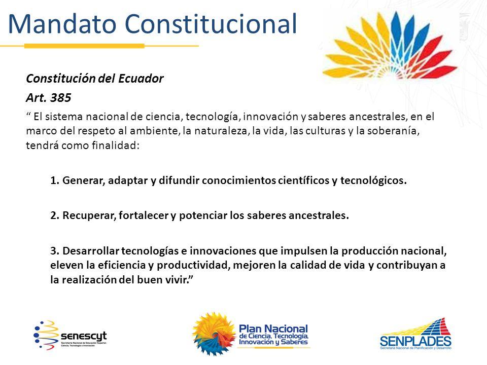 Mandato Constitucional Constitución del Ecuador Art.