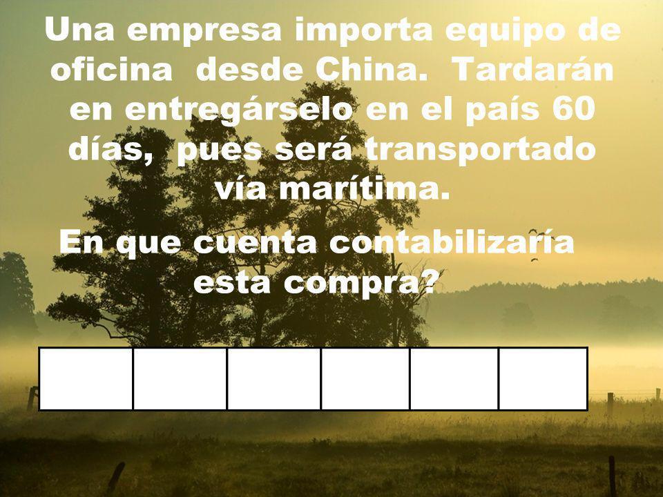 Una empresa colombiana posee una cuenta corriente en dólares en un banco de Miami. En que cuenta contabilizaría este dinero?