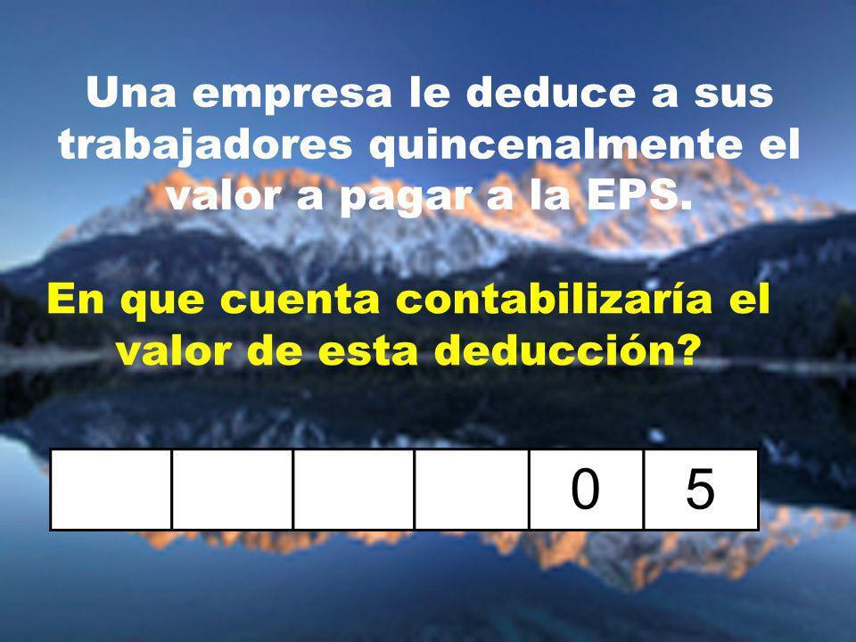 Una empresa le deduce a sus trabajadores quincenalmente el valor a pagar a la EPS.