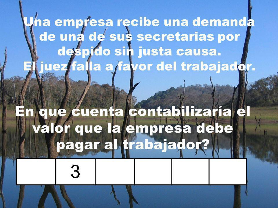 Una empresa paga el valor de los aportes a la ARP correspondientes a la secretaria, el gerente y el trabajador de oficios varios. 5 8