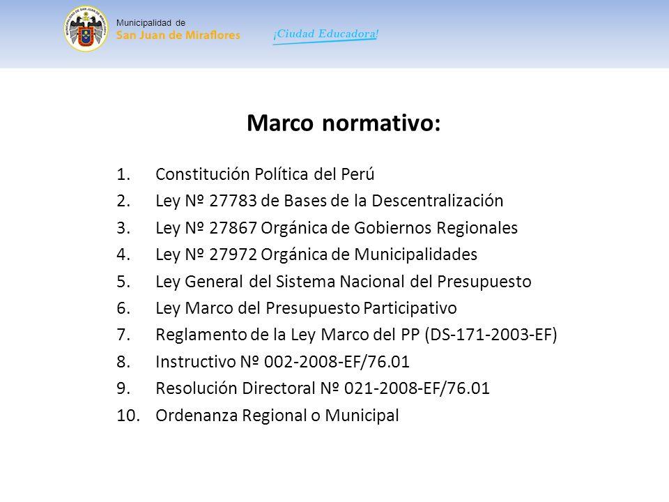 Principios del PDC: Participación.Transparencia Gestión moderna y rendición de cuentas Inclusión.