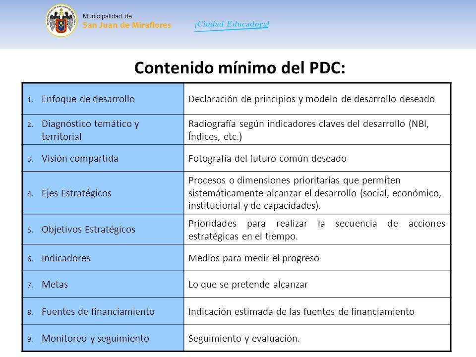 Municipalidad de Para que sirve el PDC: Para que los diversos actores de un territorio decidan su futuro.