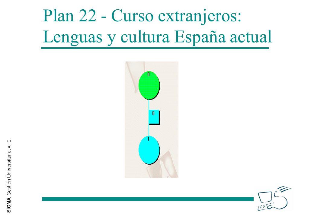 SIGMA Gestión Universitaria, A.I.E. Plan 22 - Curso extranjeros: Lenguas y cultura España actual