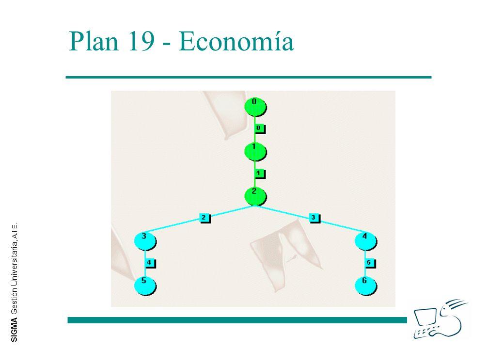 SIGMA Gestión Universitaria, A.I.E. Plan 19 - Economía