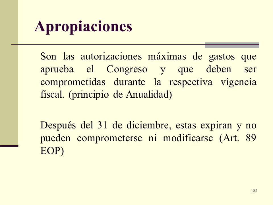 102 EJECUCIÓN Este proceso está a cargo de las entidades. Las apropiaciones incluidas en el PGN se entienden ejecutadas cuando han desarrollado el obj