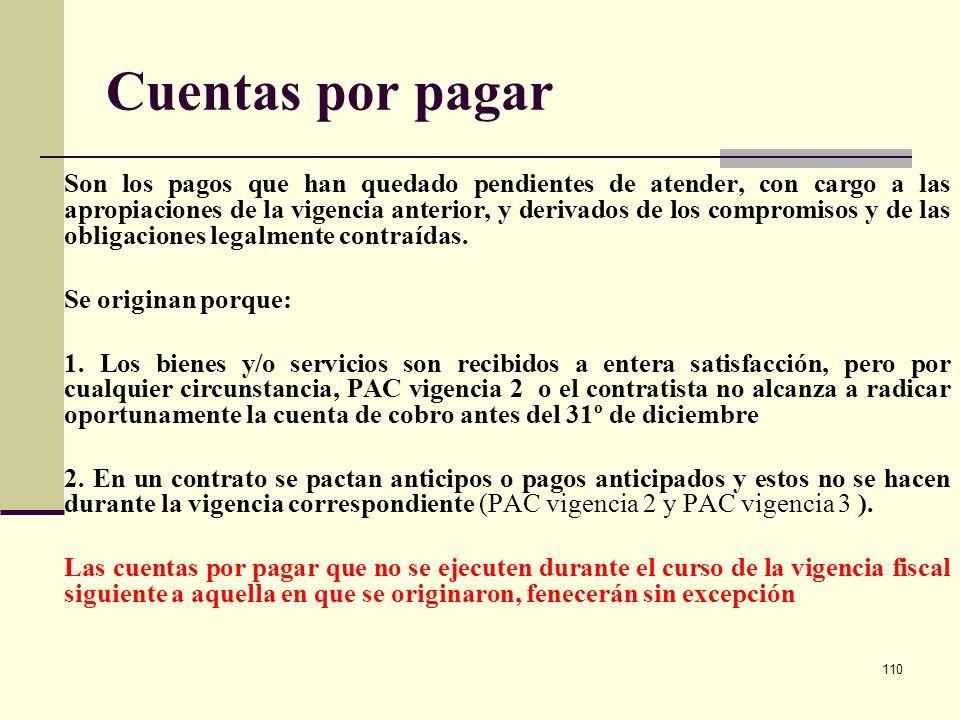 109 Programa Anual Mensualizado de Caja - PAC – Clasificaciones según el origen o situación de los fondos 1. PAC-CSF: PAC Con Situación de Fondos. Req