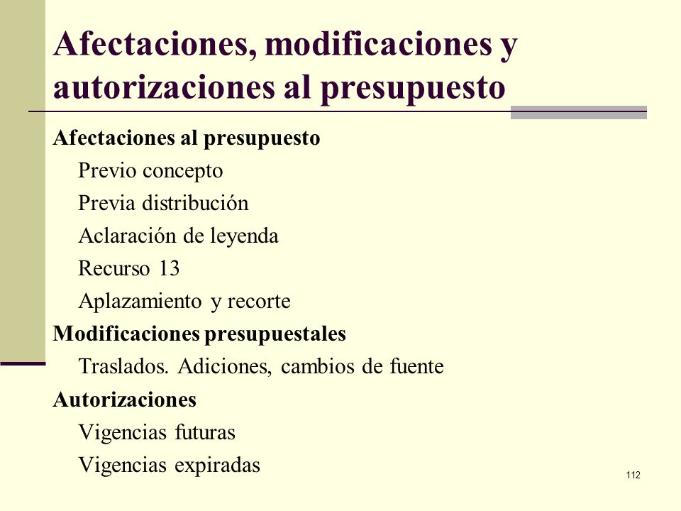 111 Reservas presupuestales Corresponde este concepto a los compromisos legalmente constituidos (adquiridos), pero en los que el objeto (de la apropia