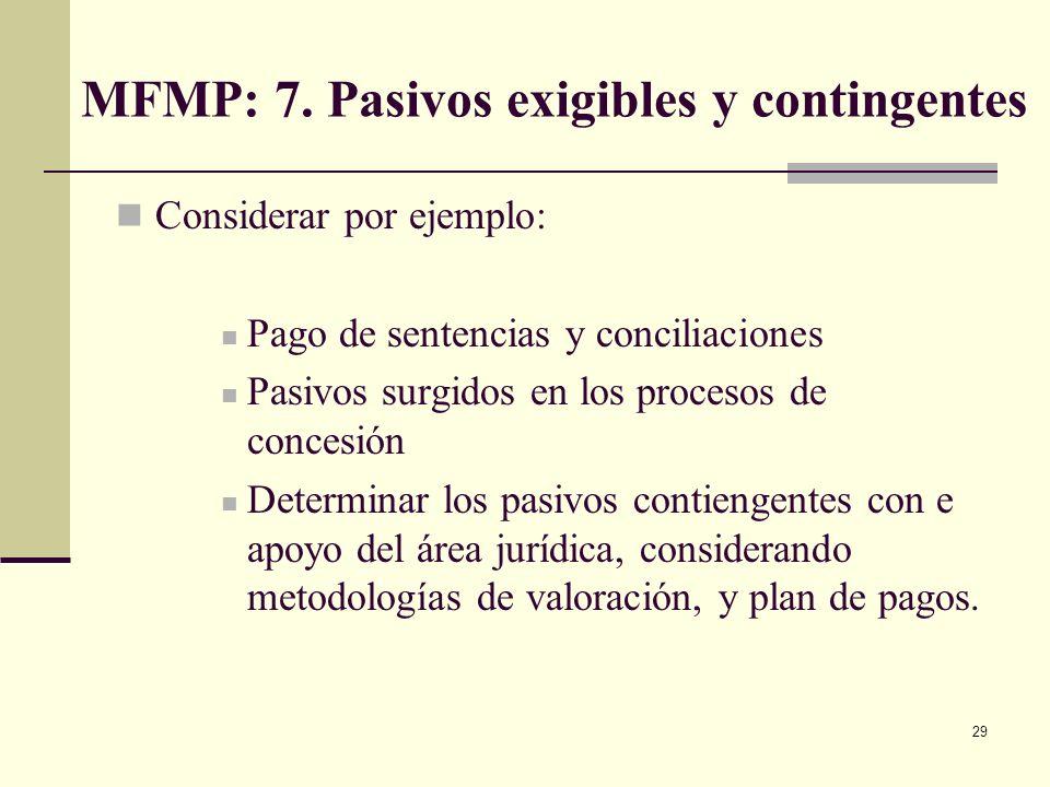 28 MFMP: 6. Costo exenciones tributarias vigencia anterior Debe estimarse el costo fiscal de las exenciones tributarias existentes en la vigencia ante