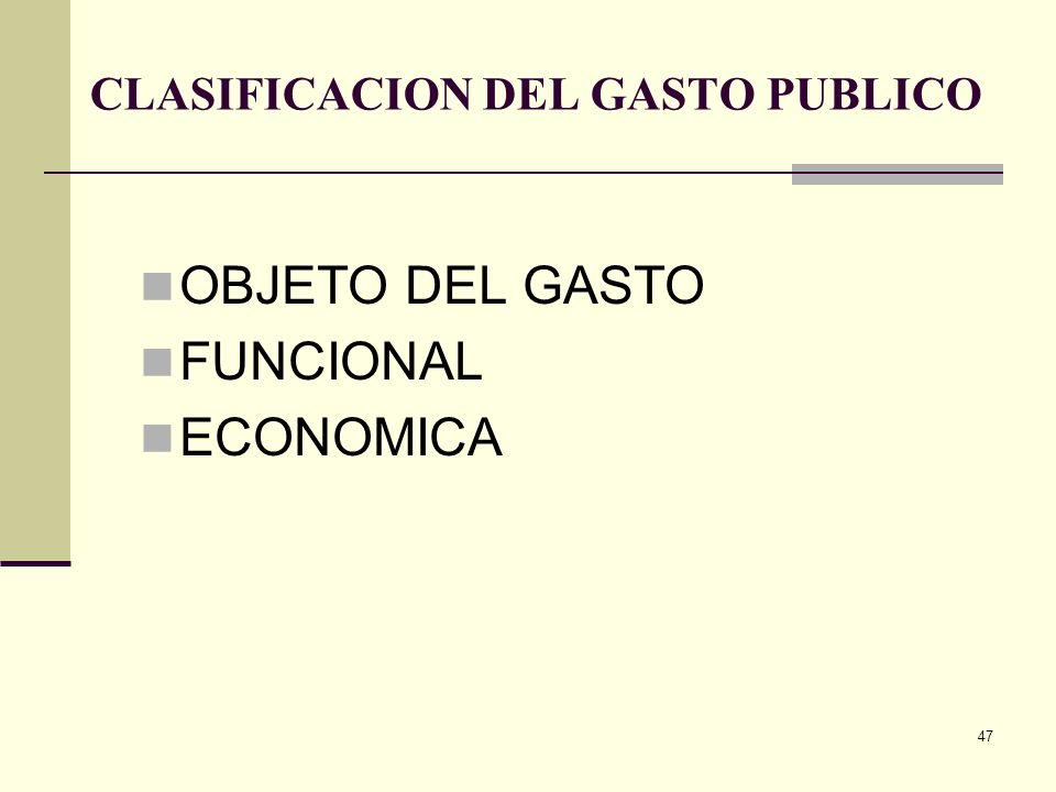 46 TEORIA DEL GASTO PUBLICO