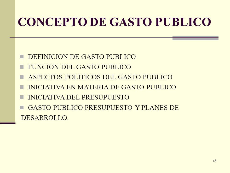47 CLASIFICACION DEL GASTO PUBLICO OBJETO DEL GASTO FUNCIONAL ECONOMICA