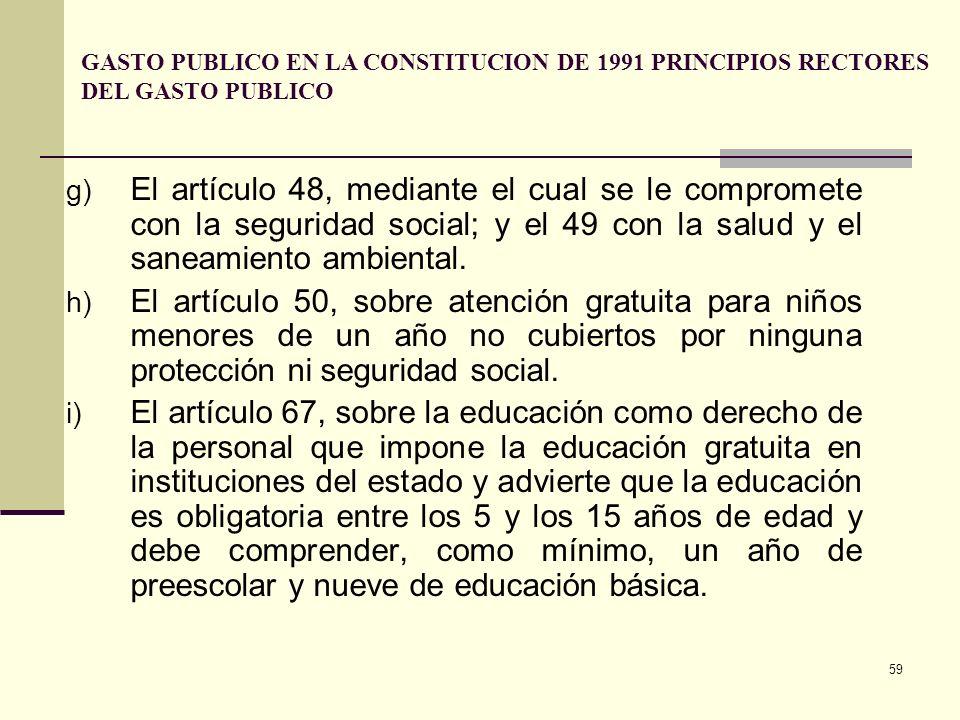 58 c) El artículo 42, según el cual el Estado debe proteger a la familia. d) El artículo 43, de acuerdo con el cual el Estado suministrará subsidio al