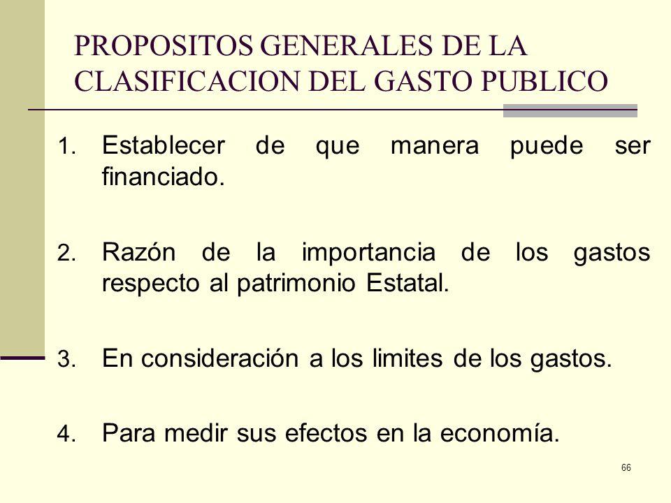 65 1.Objetivos macroeconómicos de estabilidad y de consistencia entre la disponibilidad de recursos y el nivel de gasto total. 2. Objetivos respecto a