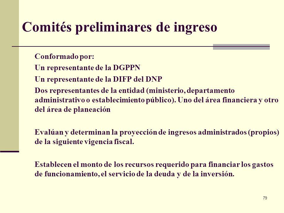 78 Inscripción de proyectos en el Banco de Proyecto de Inversión Nacional -BPIN-
