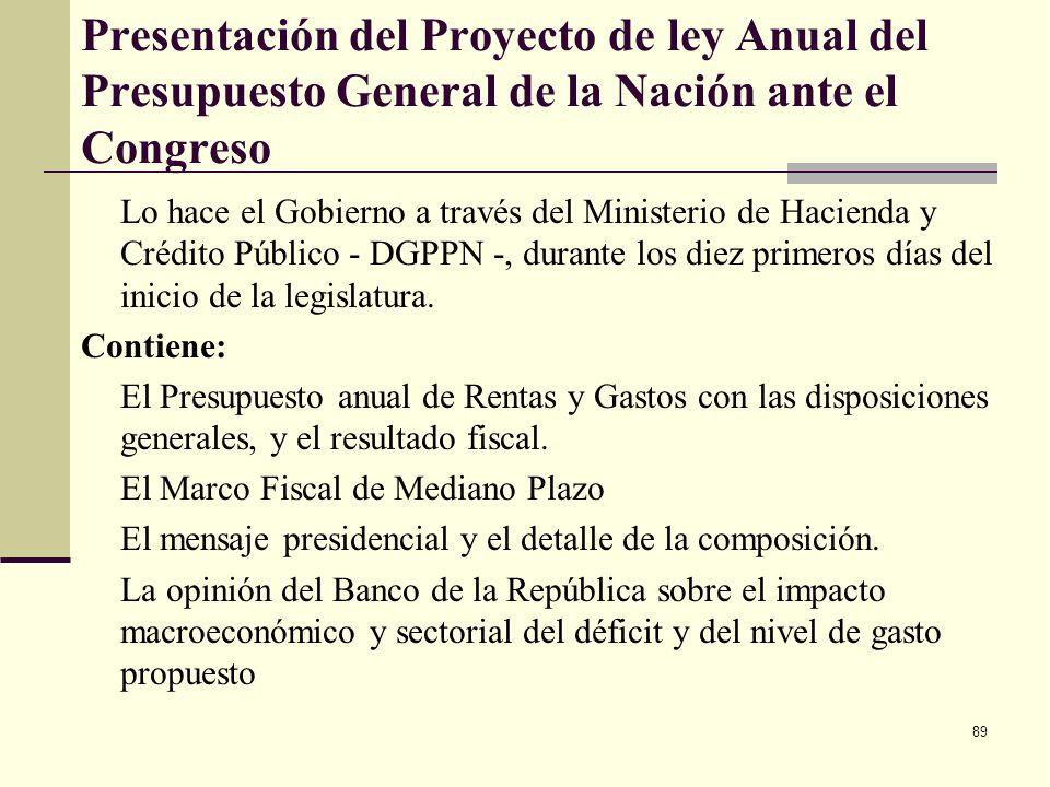 88 El Pan Operativo Anual de Inversiones - POAI- y el CONPES El DNP presenta el POAI a consideración del Consejo Nacional de Política Económica y Soci