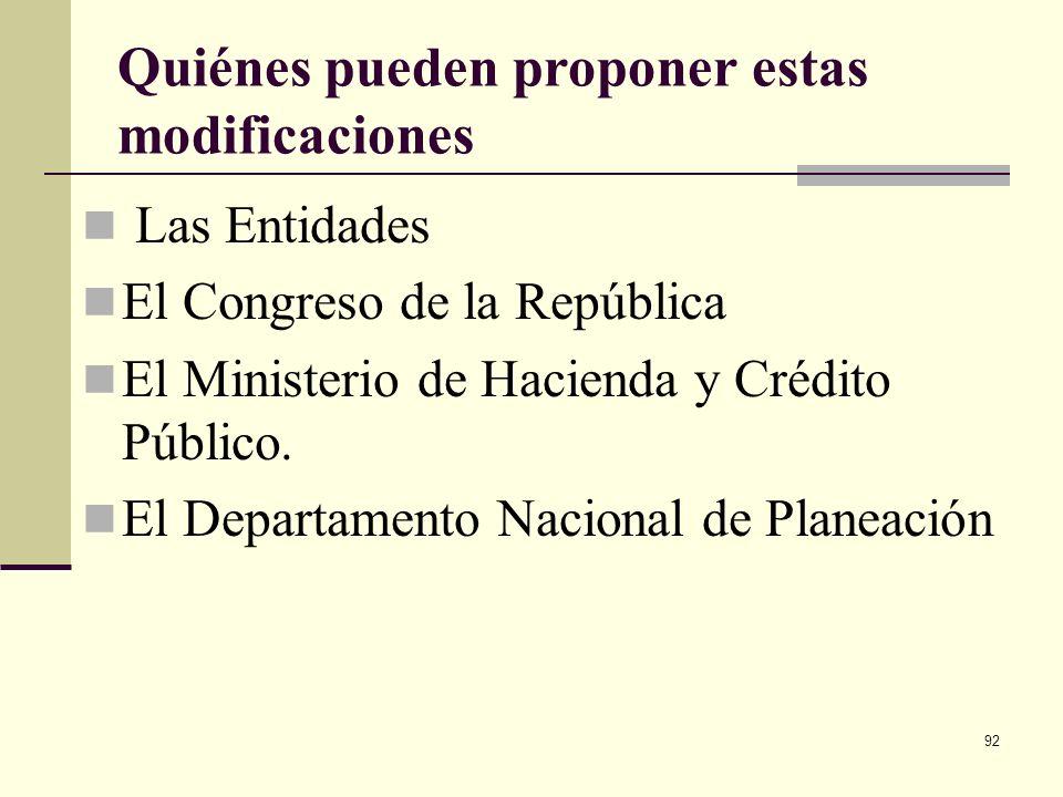 91 Modificaciones se pueden hacer durante el estudio del Proyecto del PGN en el Congreso Antes del 15 de septiembre: Traslados, adiciones, reducciones