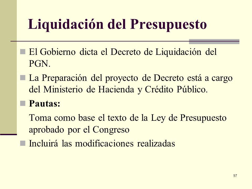 96 Iniciativa de estas modificaciones Las Entidades (Secciones presupuestales) El Congreso de la República (Como Proposiciones) Ministerio de Hacienda