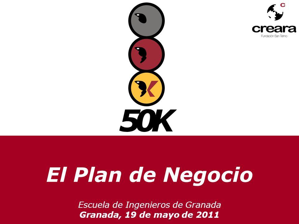 El Plan de Negocio Escuela de Ingenieros de Granada Granada, 19 de mayo de 2011