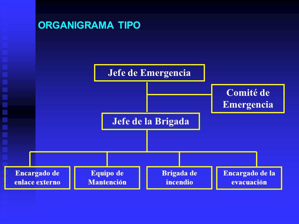 ORGANIZACIÓN Y RESPONSABILIDADES La organización que debe establecerse no sólo va a depender de las posibles situaciones de emergencia, si no que tamb
