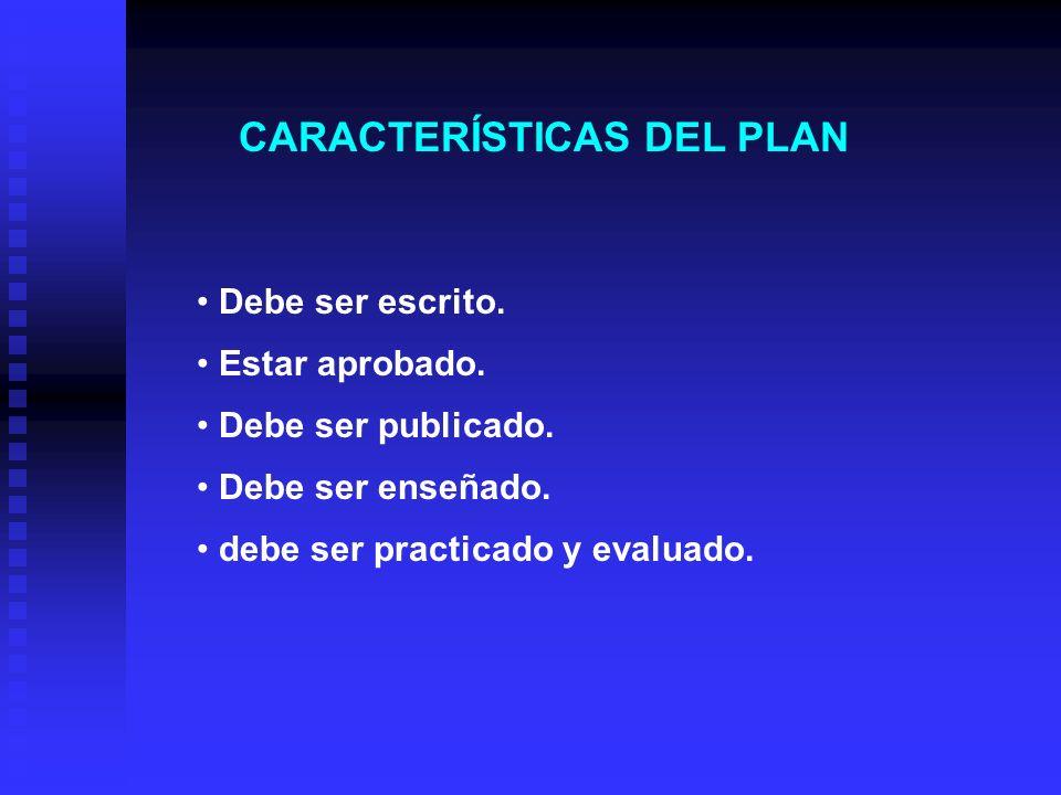 CONTENIDOS DEL PLAN DE EMERGENCIA Y EVACUACIÓN 1. Objetivos 2. Determinar las emergencias que se han de cubrir. 3. Determinación de las responsabilida