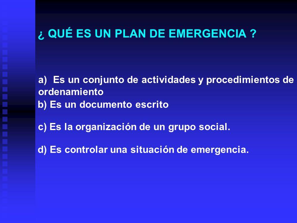 DETERMINAR LOS POSIBLES REQUERIMIENTOS QUE AYUDEN A MITIGAR LA EMERGENCIA : Alumbrado de emergencia.