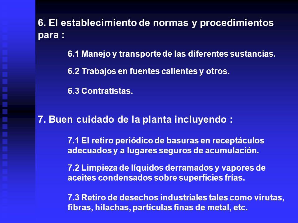 PLAN DE DETECCIÓN DE LOS POSIBLES RIESGOS PRESENTES : 1. Revisión de las cargas eléctricas 2. Limpieza y mantención de los equipos y máquinas. 3. Prot