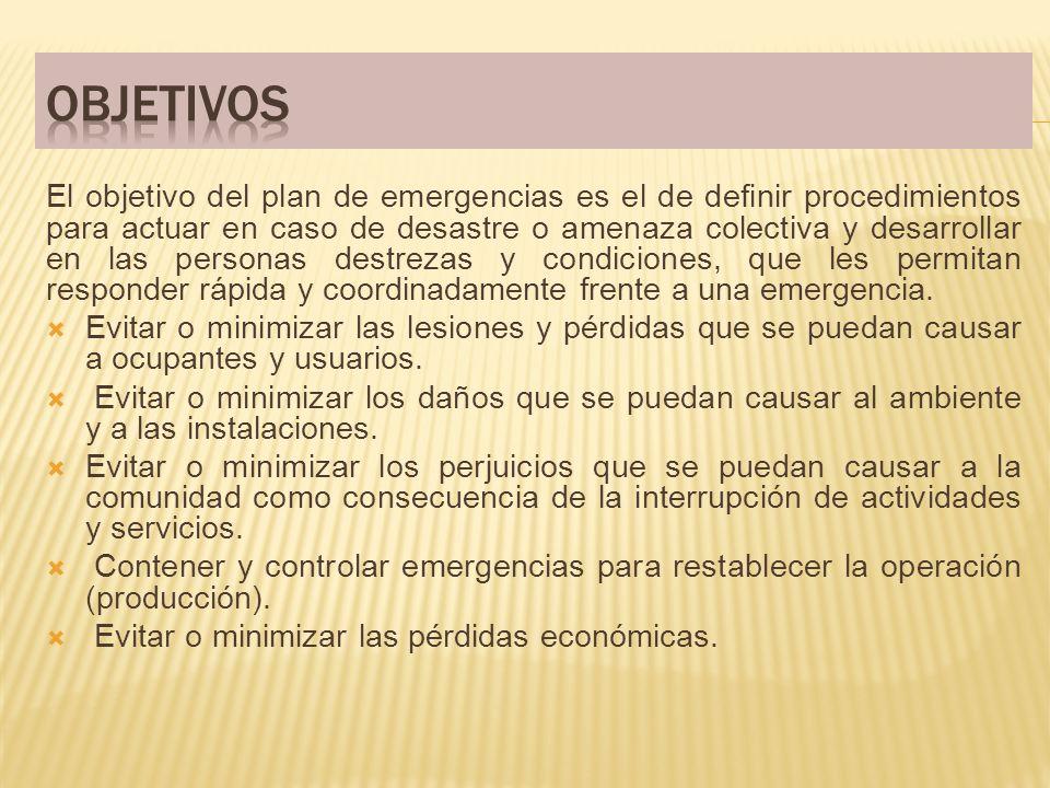 El plan de contingencias comprende tres subplanes.