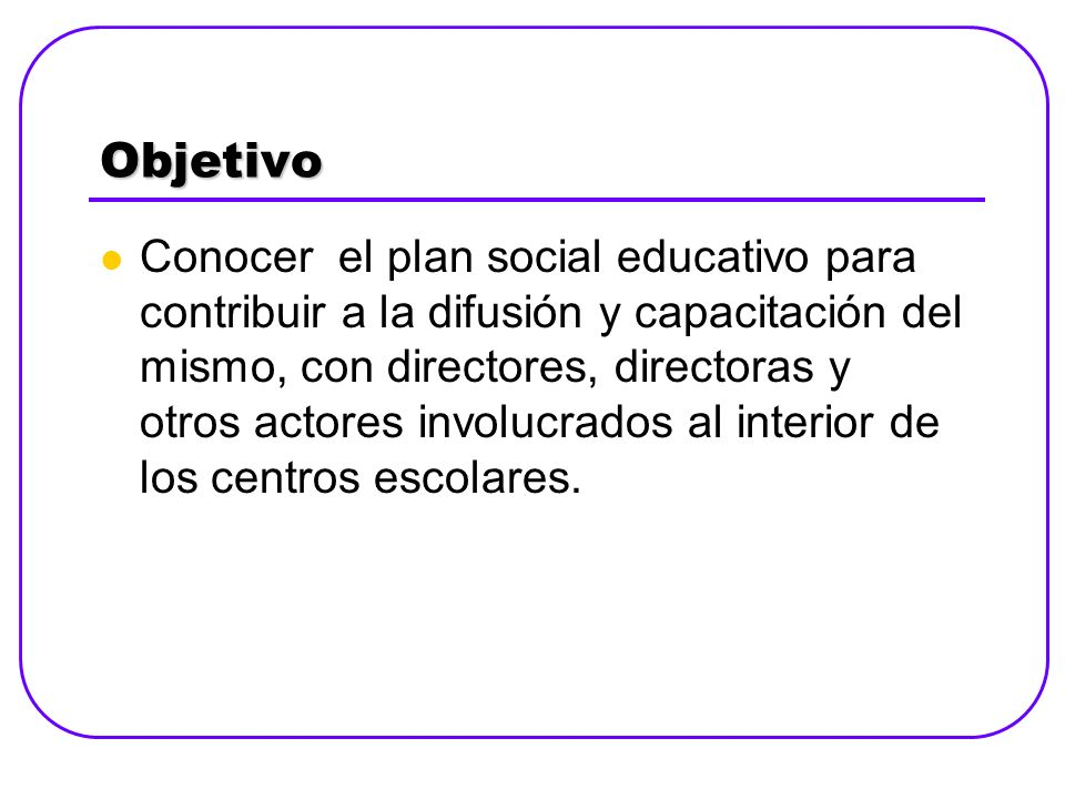 Agenda Saludo y bienvenida Presentación de agenda Presaberes sobre el Plan Social Presentación de Plan Social Educativo Vamos a la escuela Estructura Primera parte: Bases conceptuales y filosóficas.