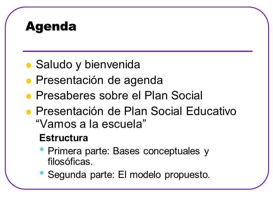 Estructura del Plan Social Educativo Primera Parte: Bases Conceptuales y Filosóficas.