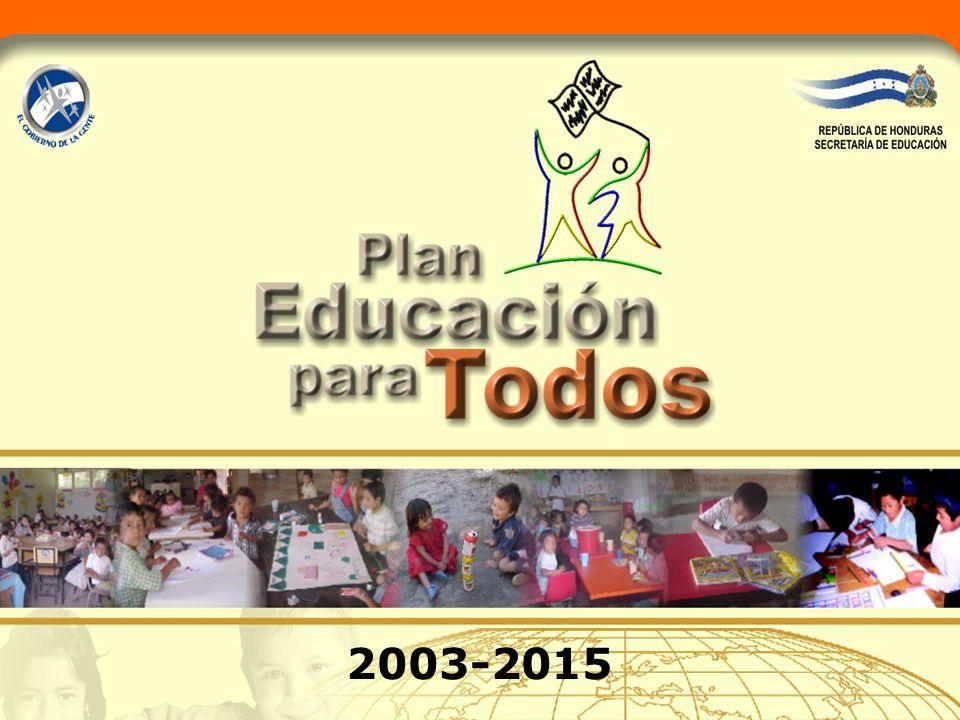 Secretaría de Educación Acciones programáticas para la ejecución de metas estratégicas 2003-2015