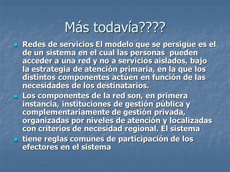 Más todavía???? Redes de servicios El modelo que se persigue es el de un sistema en el cual las personas pueden acceder a una red y no a servicios ais
