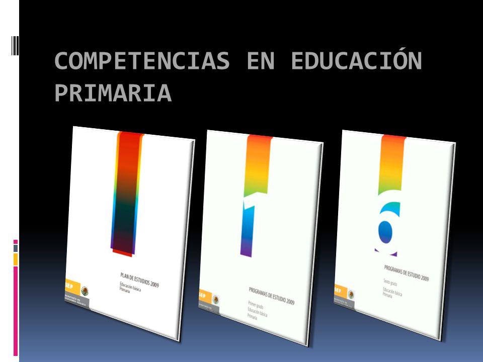 COMPETENCIAS EN EDUCACIÓN PRIMARIA