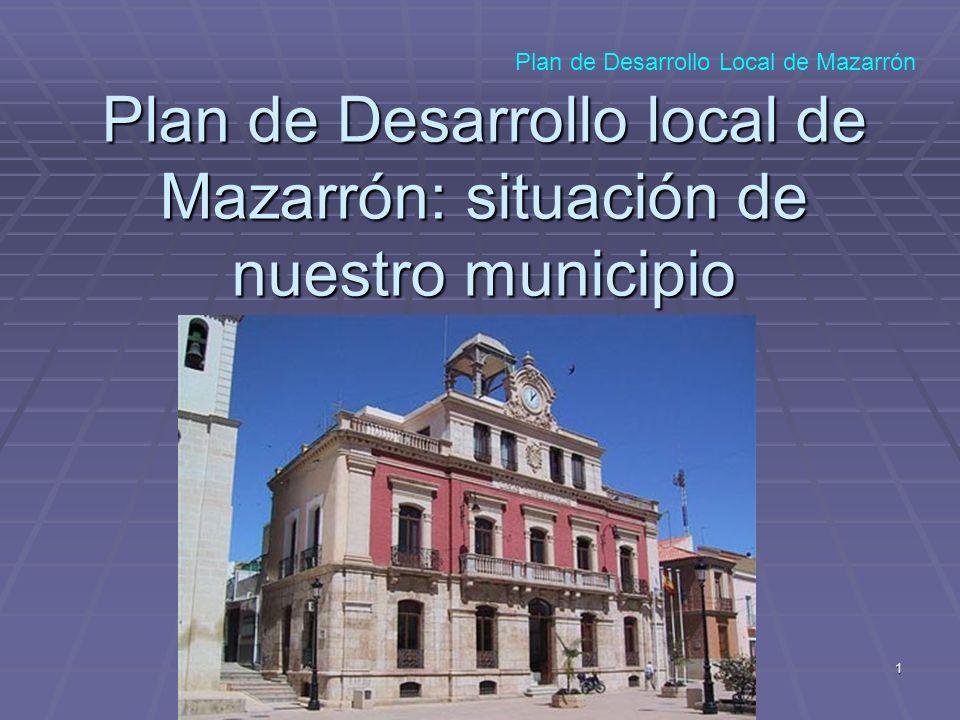 1 Plan de Desarrollo local de Mazarrón: situación de nuestro municipio Plan de Desarrollo Local de Mazarrón