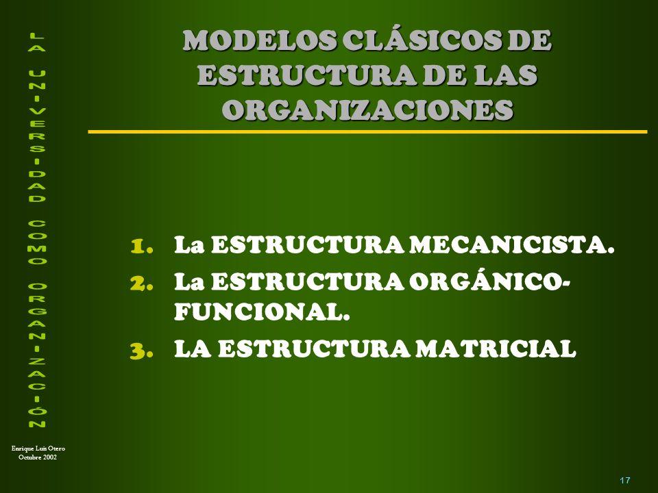 Enrique Luis Otero Octubre 2002 1.La Universidad como un medio para ampliar oportunidades.