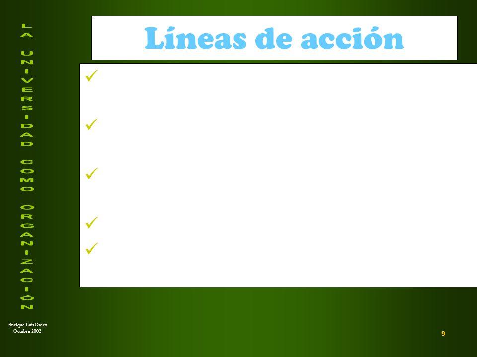 Enrique Luis Otero Octubre 2002 ¿Qué modelos de desarrollo curricular.