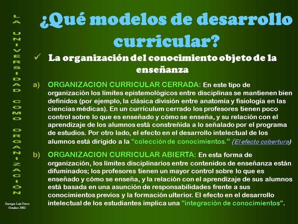 Enrique Luis Otero Octubre 2002 ¿Cuáles son las tendencias actuales.