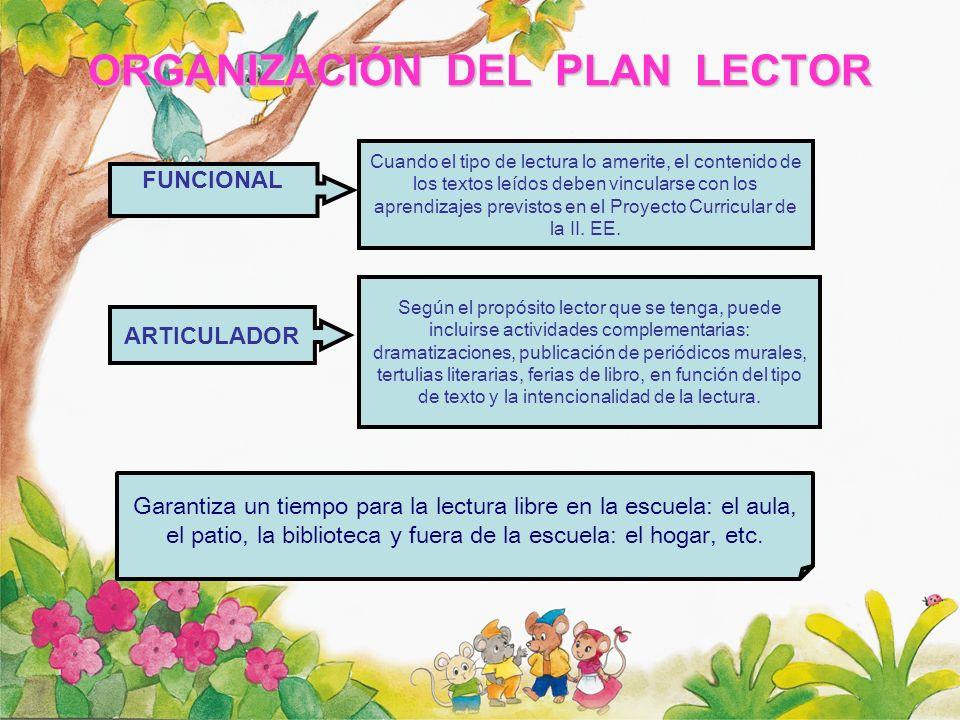 PROPÓSITOS FUNDAMENTALES DEL PLAN LECTOR EN INICIAL I.