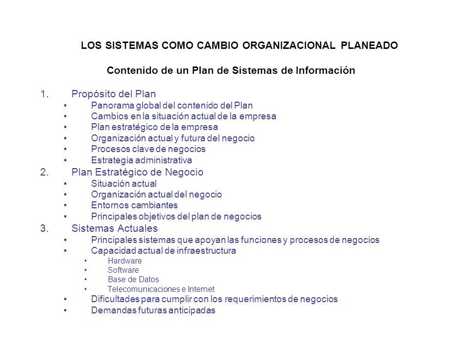 Plan de Sistemas de Información Mapa que indica la dirección de desarrollo de los sistemas, el modo de proceder, la situación actual, la estrategia ad