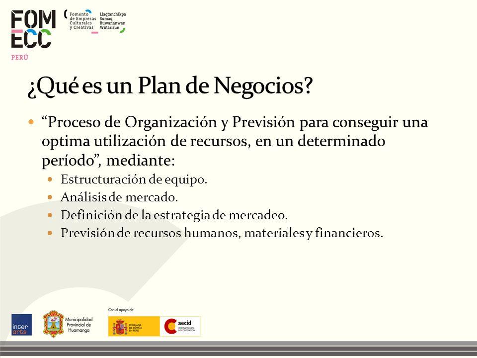 Proceso de Organización y Previsión para conseguir una optima utilización de recursos, en un determinado período, mediante: Estructuración de equipo.
