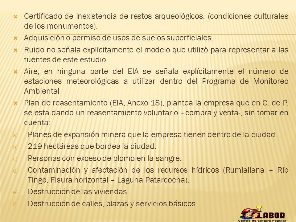 1) EIA del Proyecto de Ampliación de Tajo Abierto Raúl Rojas – Plan L (11.4 has hacia la pared sur este).