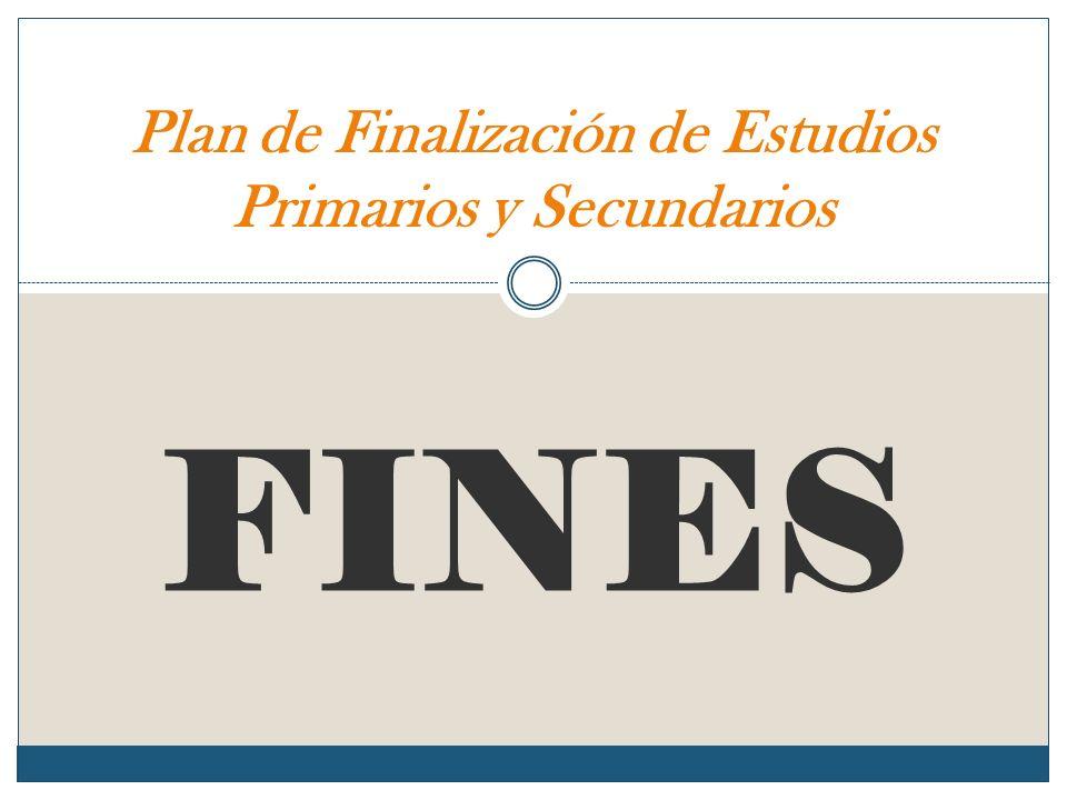 FINES Plan de Finalización de Estudios Primarios y Secundarios