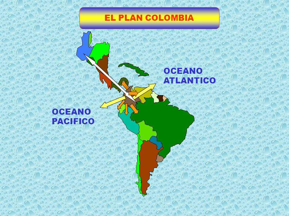 EL PLAN COLOMBIA OCEANO ATLANTICO OCEANO PACIFICO