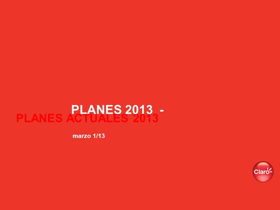 PLANES ACTUALES 2013 PLANES 2013 - marzo 1/13