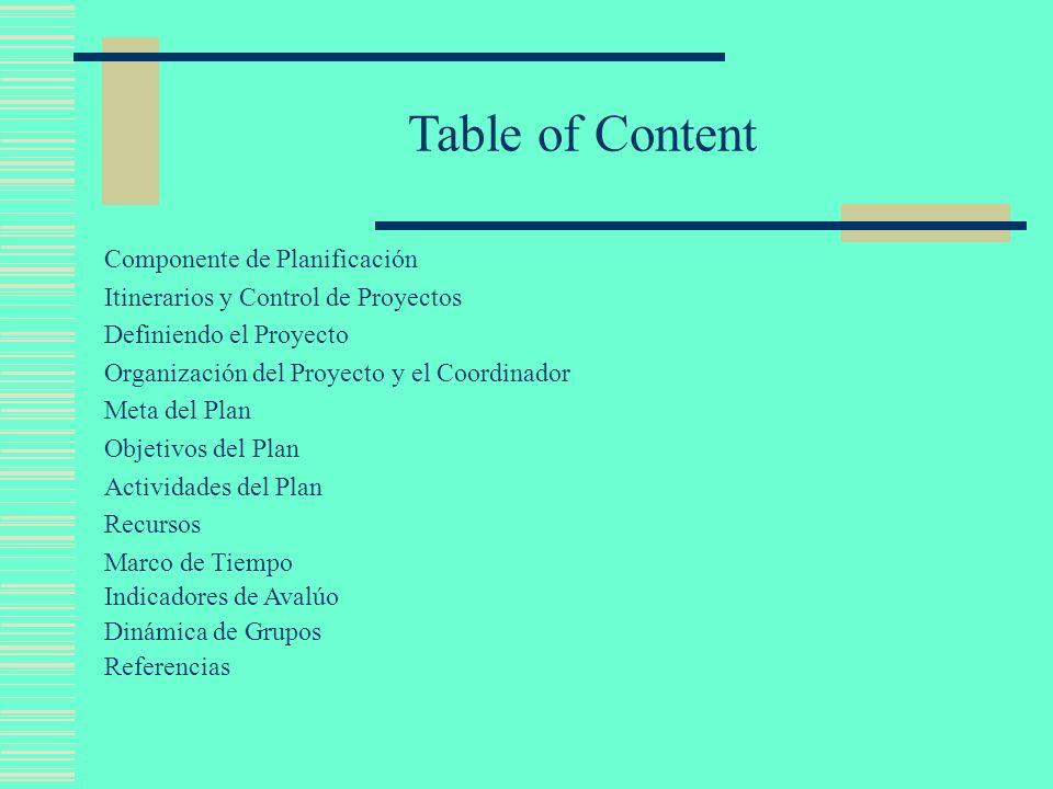 Introducción En esta presentación se estudia la planeación, dirección y control Plan de una manera organizada, estructurada y estandarizada.
