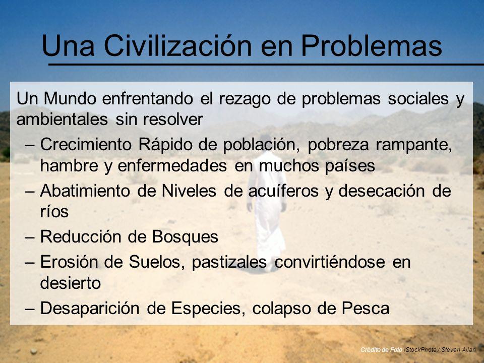 Una Civilización en Problemas Un Mundo enfrentando el rezago de problemas sociales y ambientales sin resolver –Crecimiento Rápido de población, pobrez