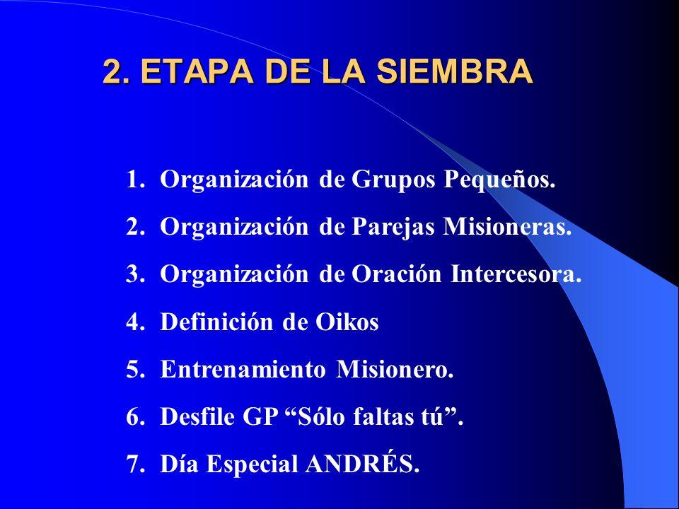 1.ETAPA DE LA PREPARACION 1. PREPARACIÓN DEL PASTOR 2.