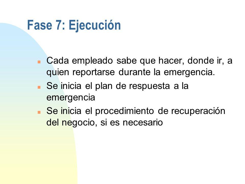 Fase 6: Mantenimiento y actualización (cont.) u Procedimientos de auditoría y control n Establecer mecanismos de distribución de la actualización del