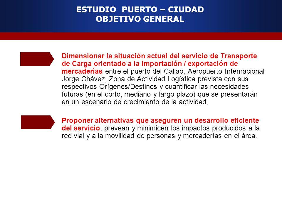 Dimensionar la situación actual del servicio de Transporte de Carga orientado a la importación / exportación de mercaderías entre el puerto del Callao